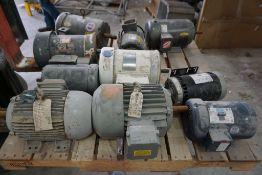 Lot of (10) Assorted Motors | Brands Include:; Baldor; Leeson; Dayton