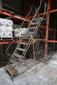 Cotterman 10' Rolling Metal Ladder   300 lb Capacity