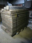 "Lot of (51) Medalist Concrete Forms | 24"" x 72""; Includes Assorted Hardware; Lot Loading Fee: $10."