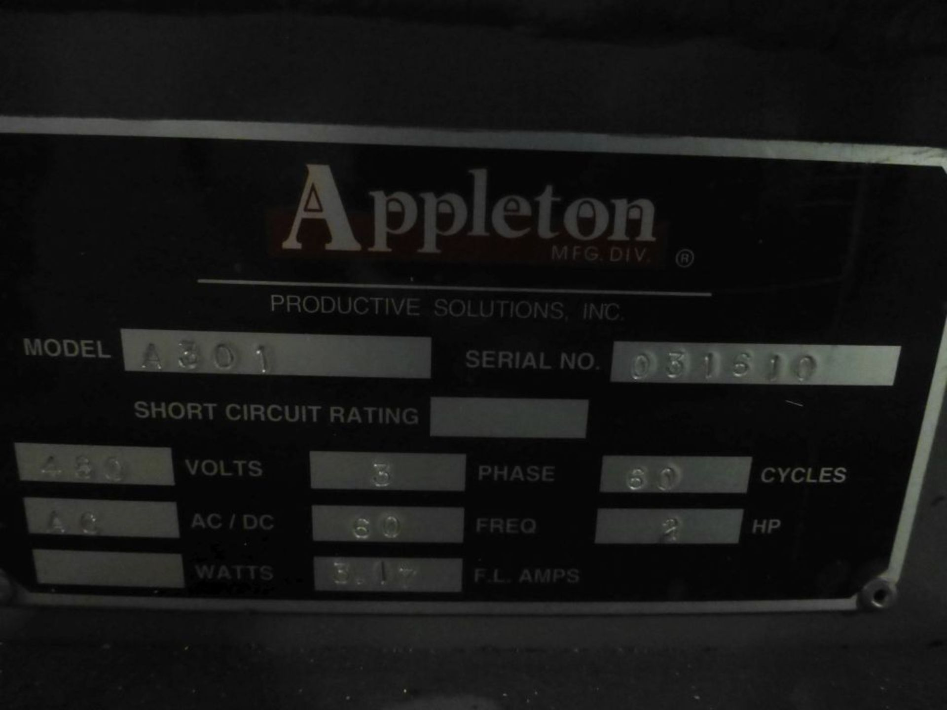 Appleton Automatic Core Cutter | Model No. A301; 2 HP; 460V; 3PH; Mfg: 2010 - Image 19 of 19