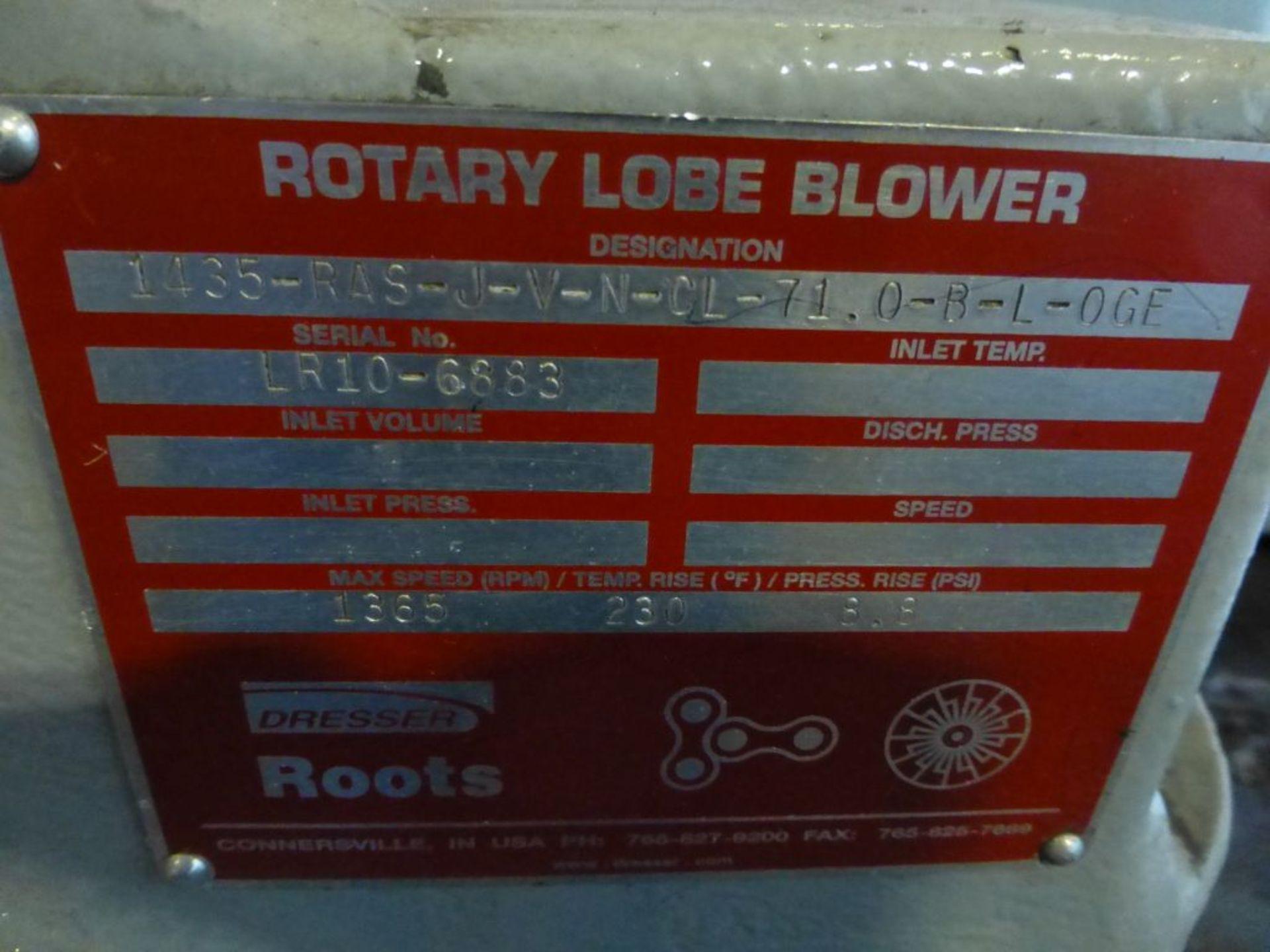 Roots Dresser Rotary Lobe Blower | Model No. 1435-J-V-N-CL-7L-0-R-L-OCE; Max Speed RPM: 1365; - Image 6 of 6