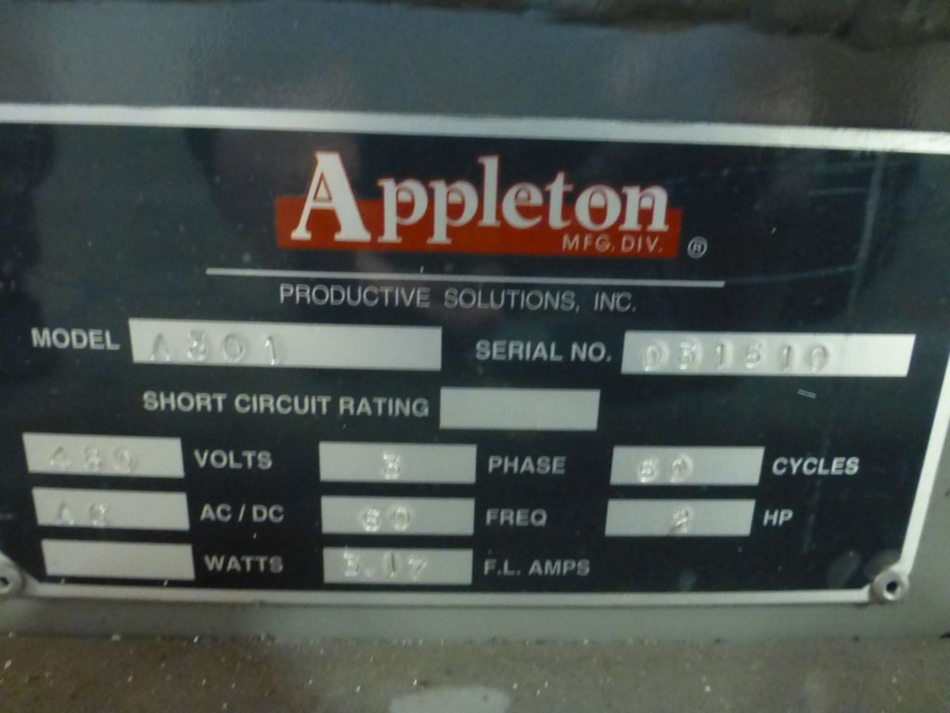 Appleton Automatic Core Cutter | Model No. A301; 2 HP; 460V; 3PH; Mfg: 2010 - Image 18 of 19
