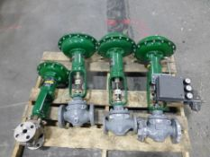 Lot of (4) Fisher Globe Valves | (1) Type: EZ, Size: 1, Includes: Actuator Type: 667, Size: 30; (