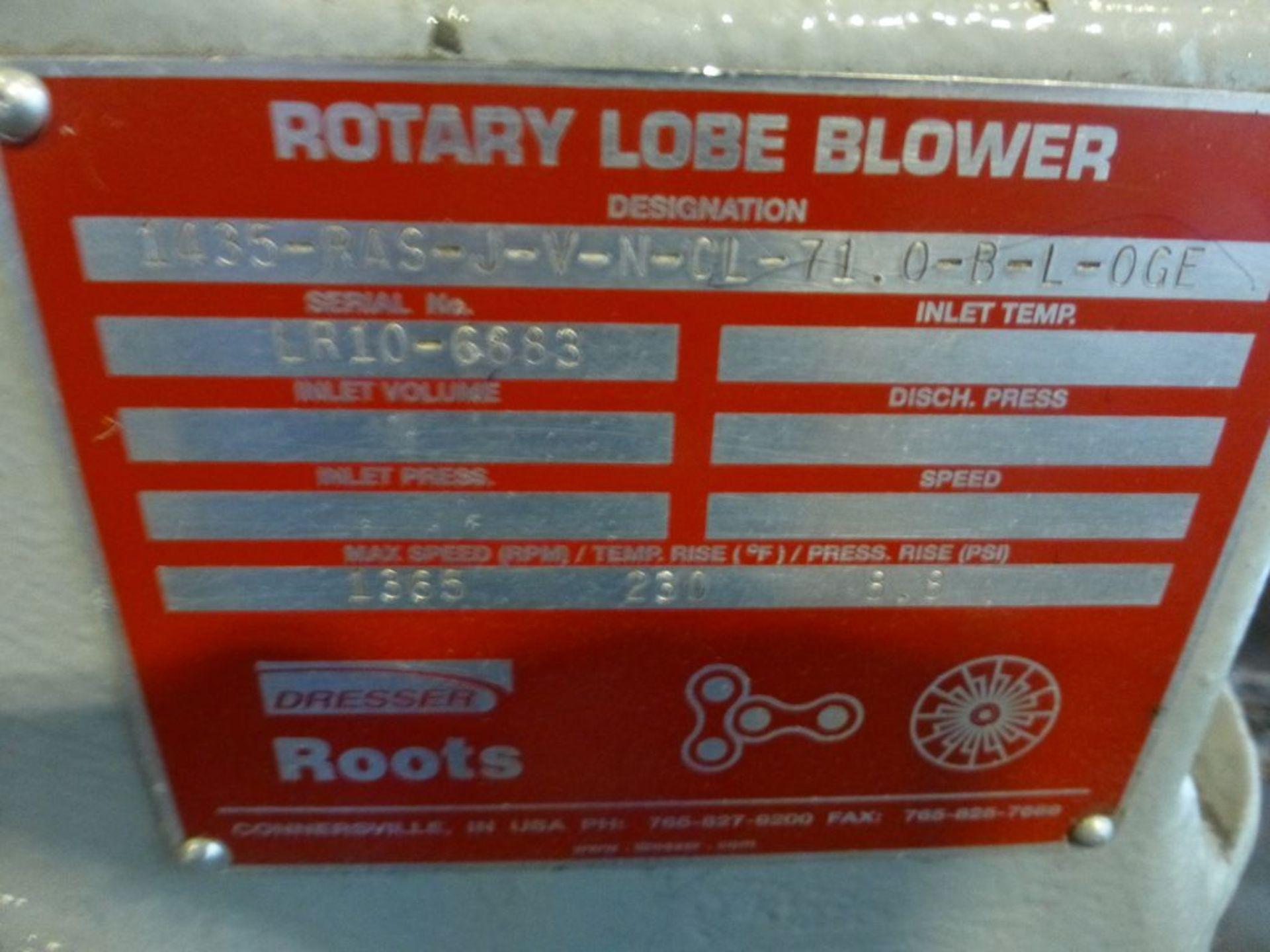 Roots Dresser Rotary Lobe Blower | Model No. 1435-J-V-N-CL-7L-0-R-L-OCE; Max Speed RPM: 1365; - Image 5 of 6