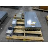 Lot of Assorted Components | Includes:; Lighting Panel; GE Transformer Cat No. 9T51B0013, 3 KVA,