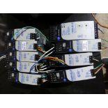 Lot of (9) Allen Bradley Power Supplies   (5) 1606 XLE Cat No. 1606XLE120E, 240V; (1) 1606 XLS Cat