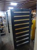 "Vidmar-Style 9-Drawer Cabinet | 30""L x 28""W x 61""H"