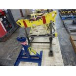 Lot of (2) Assorted Stands | (1) Welding Automation Modular Roller Support Stand Model No. HD2L-200,