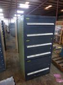 "Vidmar-Style 5-Drawer Cabinet | 30""L x 28""W x 61-1/4""H"