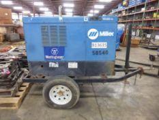 Miller Big Blue 400 DC Welding Generator Trailer | Serial No. LH007203; Hours: 295222