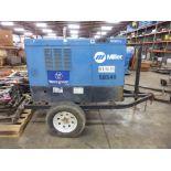 Miller Big Blue 400 DC Welding Generator Trailer   Serial No. LH007203; Hours: 295222
