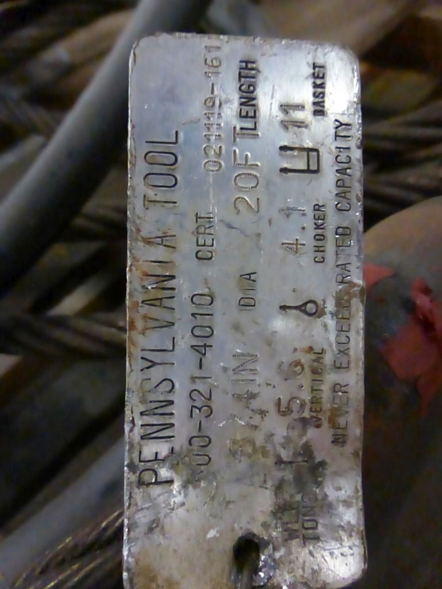 Lot of Pennsylvania Tool Wire Rope - Image 7 of 12
