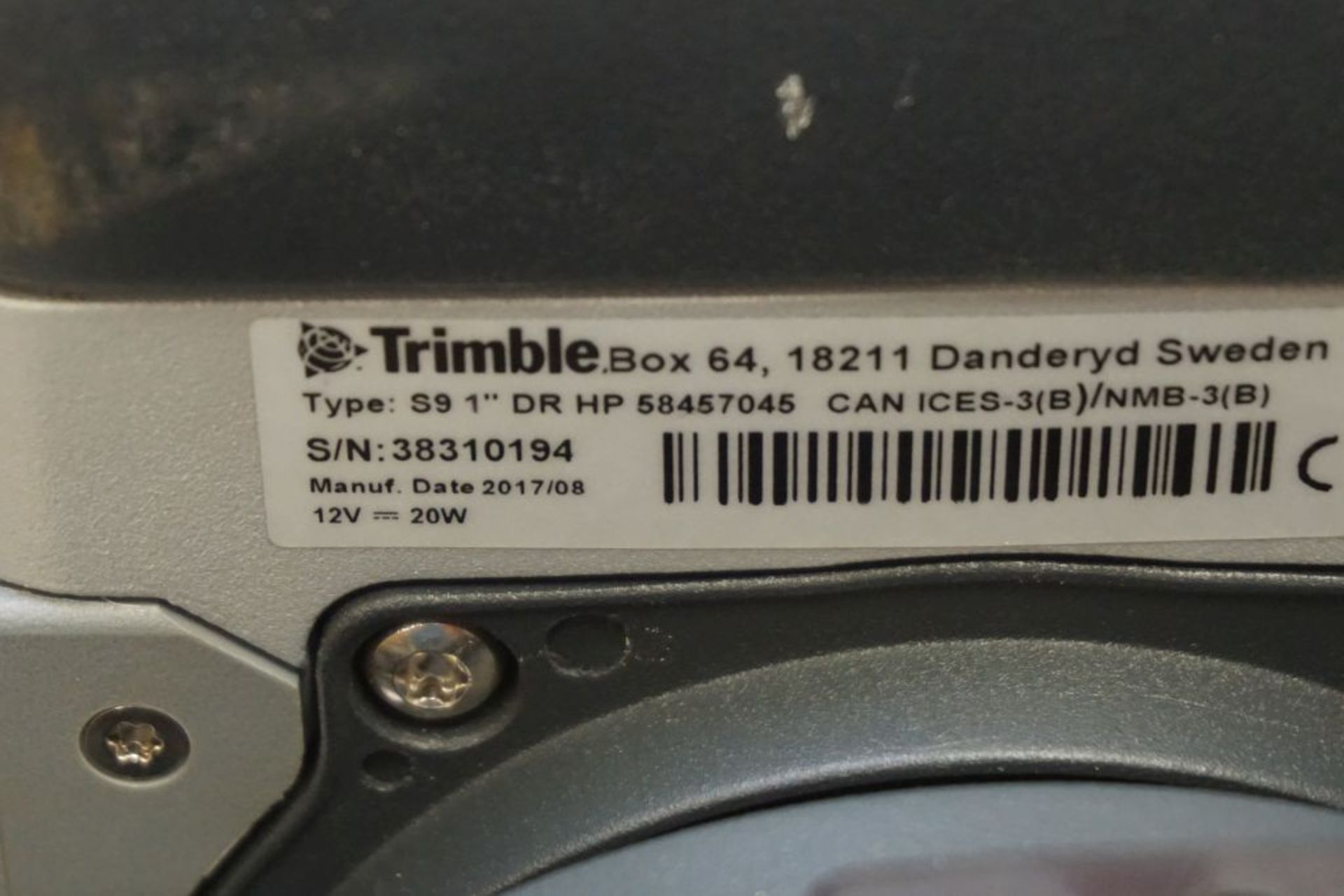 "Trimble S9 Total Station | Available 0.5"" or 1"" angle accuracy, Case; S/N: 38310194 - Image 9 of 12"