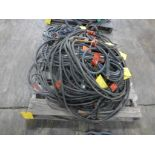 Lot of (10) 50' Welding Leads | 362 lbs; Majority are 2/0