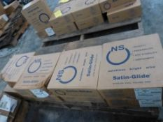 """Lot of (8) Spools of NS Satin-Glide Stainless Steel Welding Wire 