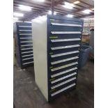 "Vidmar-Style 11-Drawer Cabinet   30""L x 28""W x 61-1/4""H"