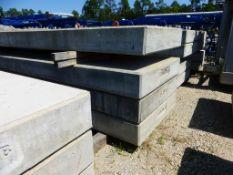 "Lot of (4) 15,000 lb Concrete Counterweights | 246""L x 60""W x 12""H"