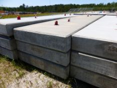 "Lot of (3) 15,000 lb Concrete Counterweights | 246""L x 60""W x 12""H"