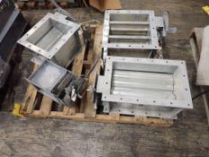 Lot of (4) Assorted Greenheck Corp Dampers | (1) Balancing Damper, Part No. SVS-VAS-MD-D044; (1)