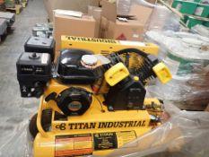 Titan Industrial 8-Gallon Gasoline Powered Air Compressor | 5.5 HP; New Surplus