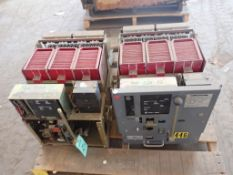 Lot of (2) Square D Low Voltage Circuit Breakers   Type: DS-416S; 1600A; 635V; 3P