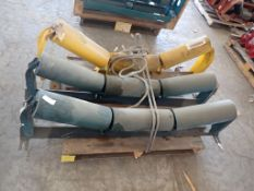 Lot of (3) Troughing Components   (1) Roll Idler Assembly; (1) Yellow Roll Scale
