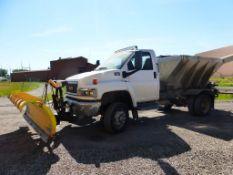 2008 GMC 5500 4x4 Plow Truck with Spreader   Vin No. 1GDE5C3G39F404627; GVWR: 19,500; 15,312