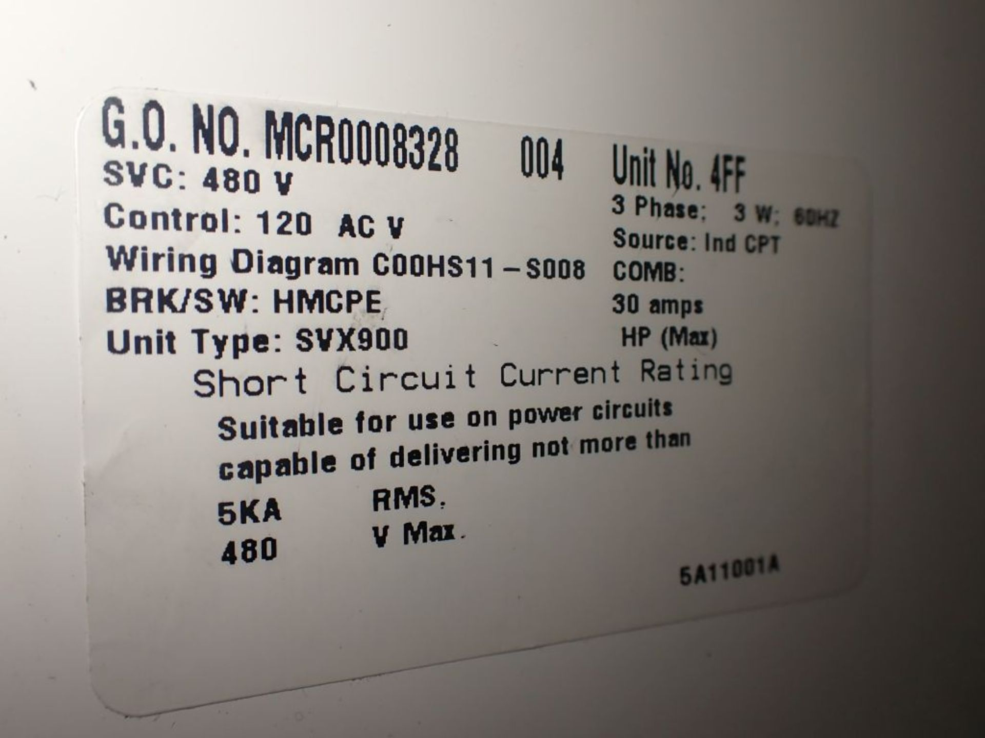 Eaton Freedom 2100 Series Motor Control Center | (2) F206-7A-10HP; (3) F206-15A-10HP; (1) FDRB-100A; - Image 26 of 87