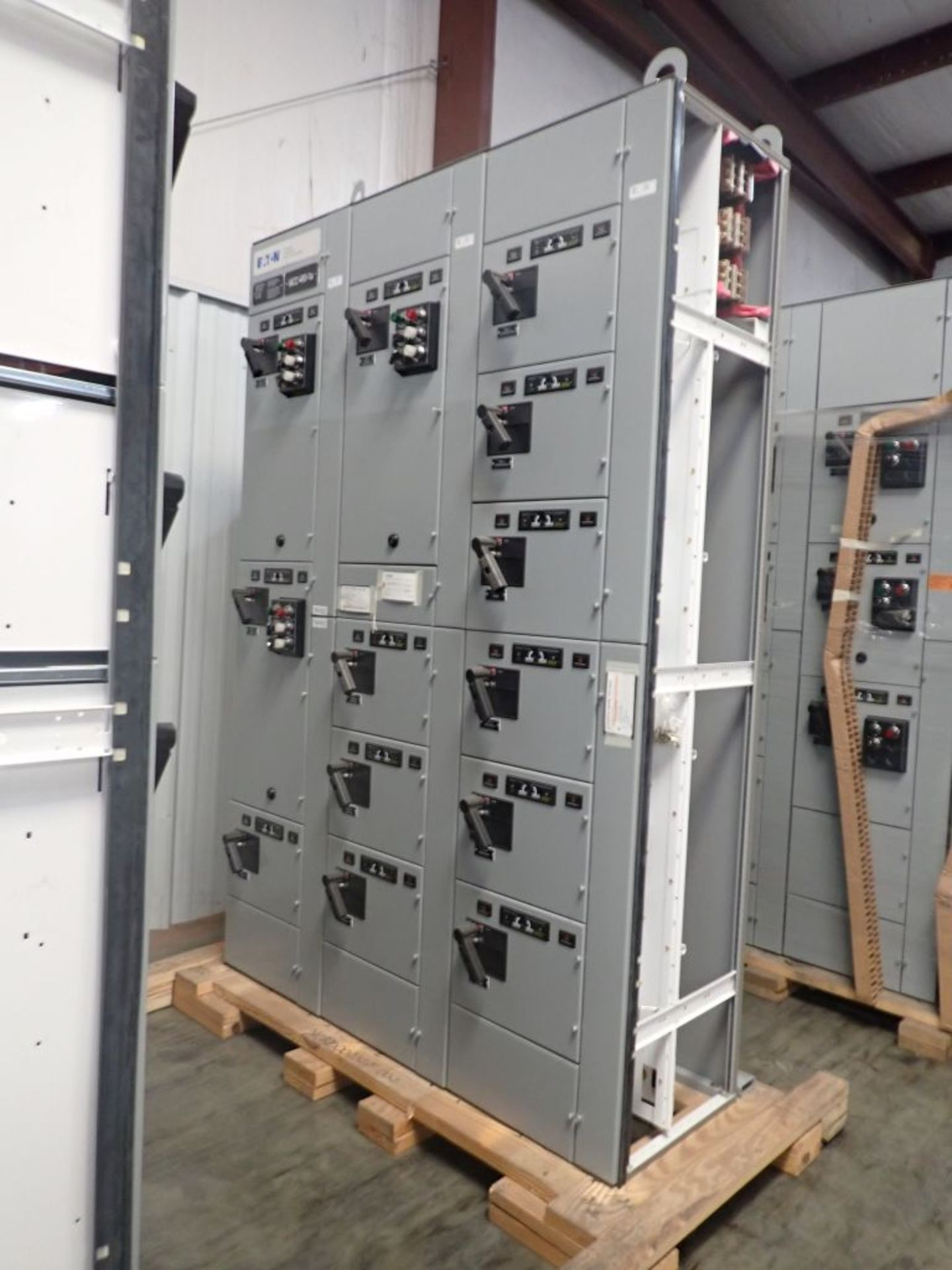 Eaton Freedom Flashgard Motor Control Center   (3) F216-15A-10HP; (1) FDRB-125A, with 150A