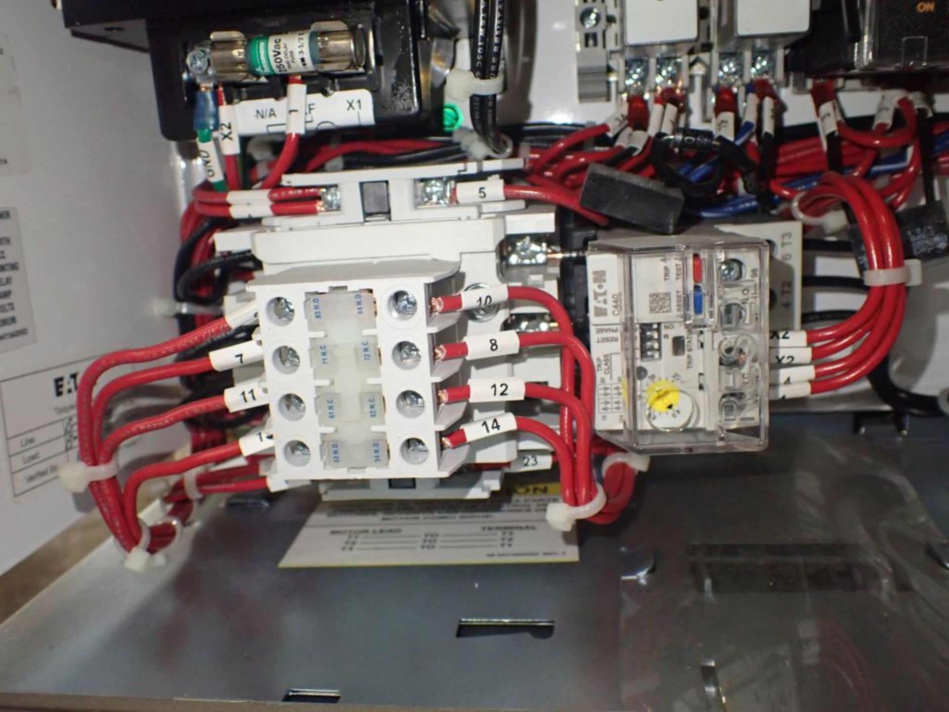 Eaton Freedom 2100 Series Motor Control Center | (2) F206-7A-10HP; (3) F206-15A-10HP; (1) FDRB-100A; - Image 58 of 87