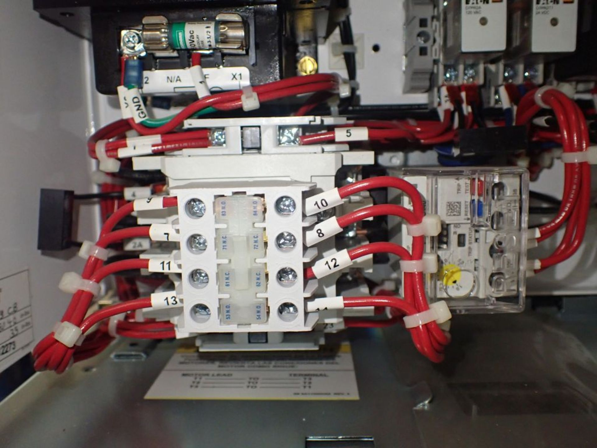 Eaton Freedom 2100 Series Motor Control Center | (2) F206-7A-10HP; (3) F206-15A-10HP; (1) FDRB-100A; - Image 46 of 87