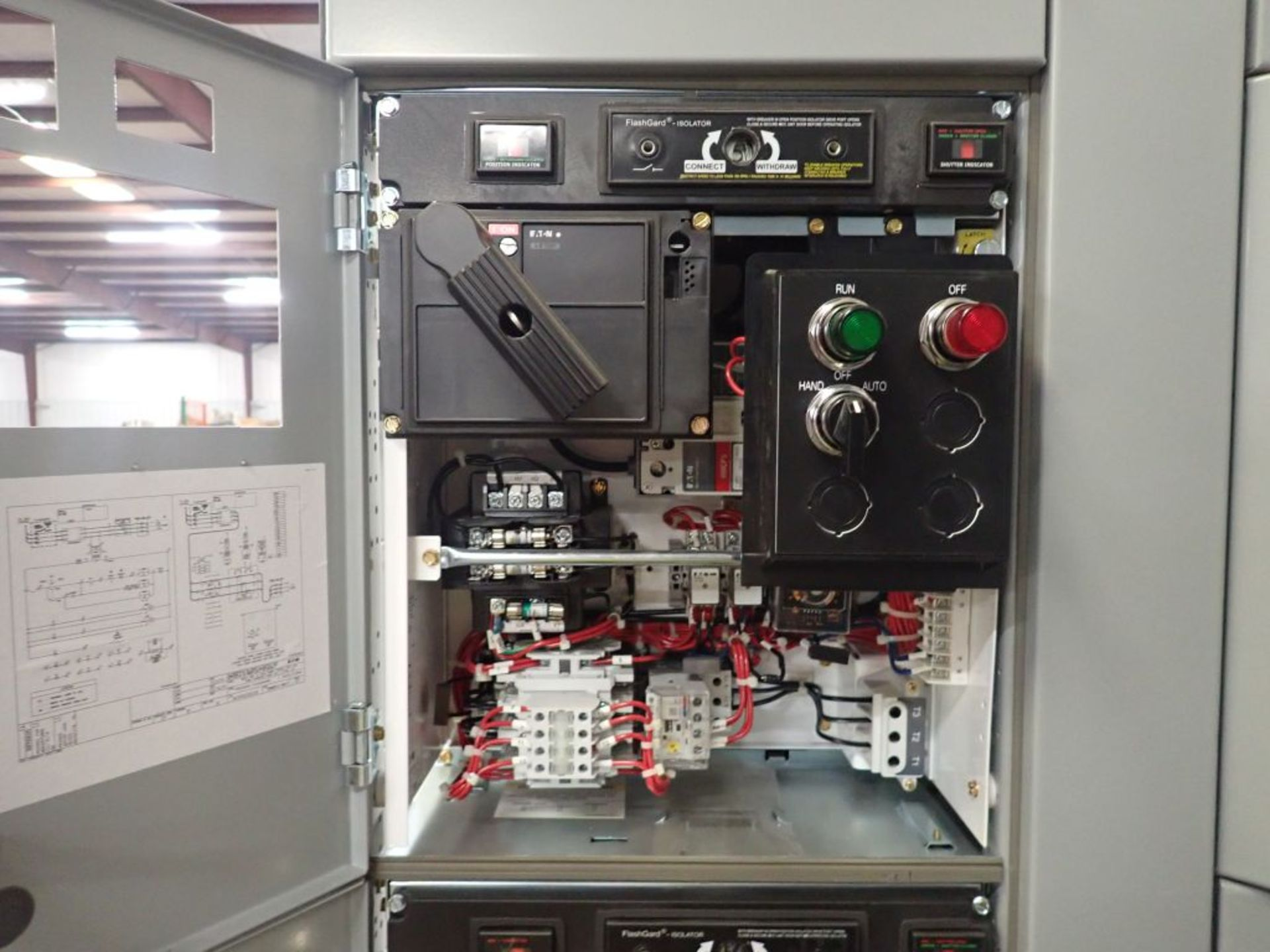 Eaton Freedom 2100 Series Motor Control Center | (2) F206-7A-10HP; (3) F206-15A-10HP; (1) FDRB-100A; - Image 44 of 87
