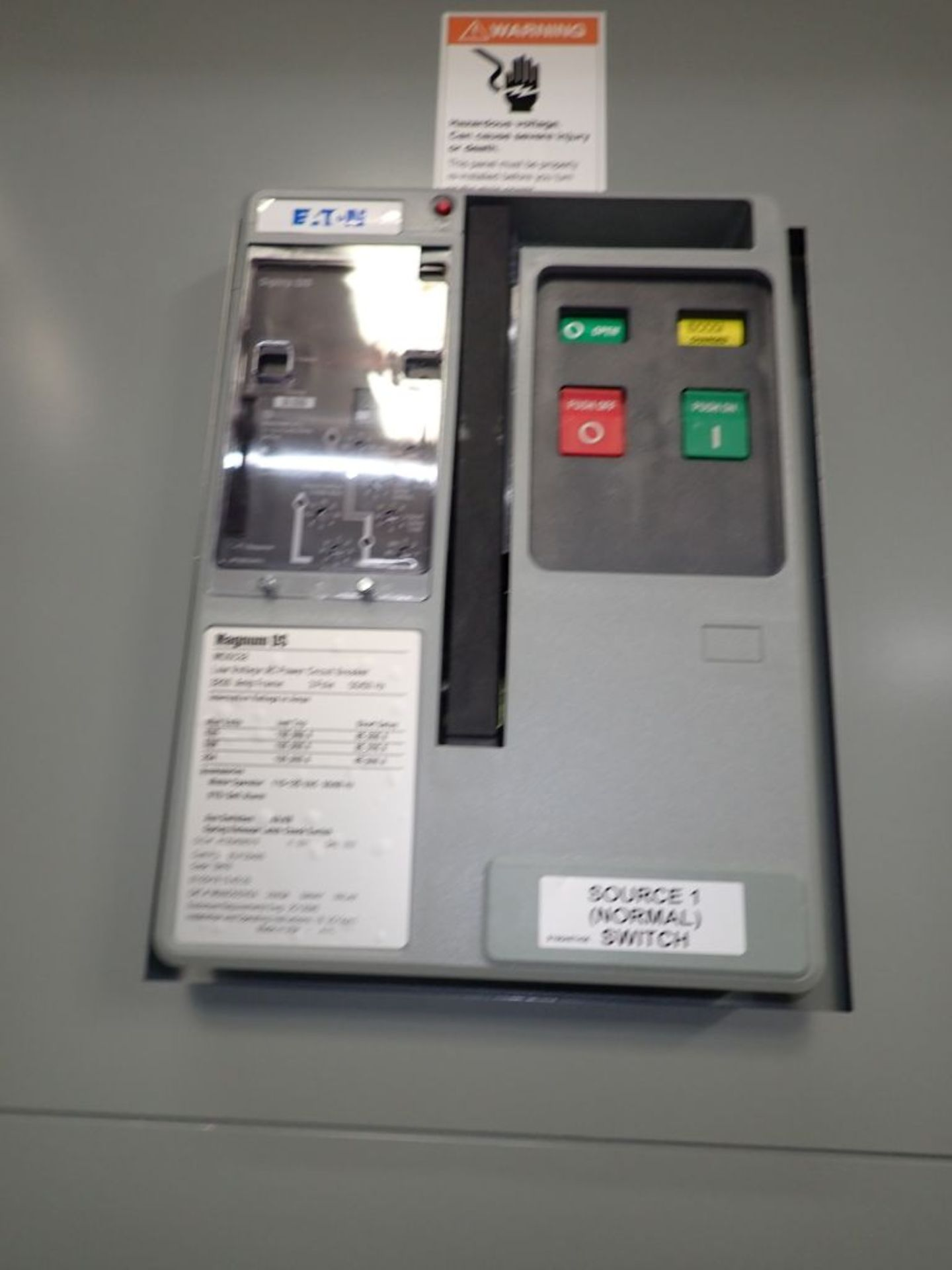 Eaton Transfer Switch | Cat No. ATV9MGB32500XSU; 480V; 3 PH; 2500A; (2) Eaton Magnum DS Circuit - Image 8 of 50
