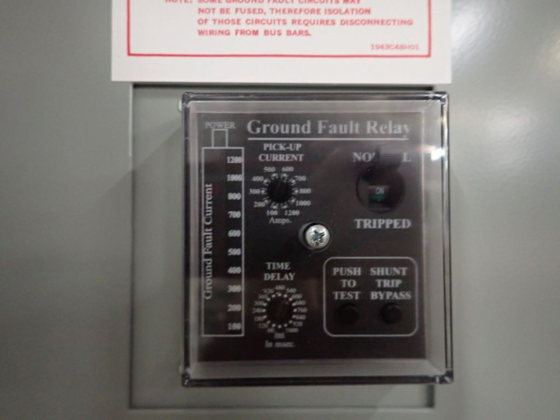 Eaton Pow-R-Line Switchboard   PRL-C; 480V; 3 PH; (1) Pringle Bolted Pressure Switch, 2500A, Cat No. - Image 10 of 13