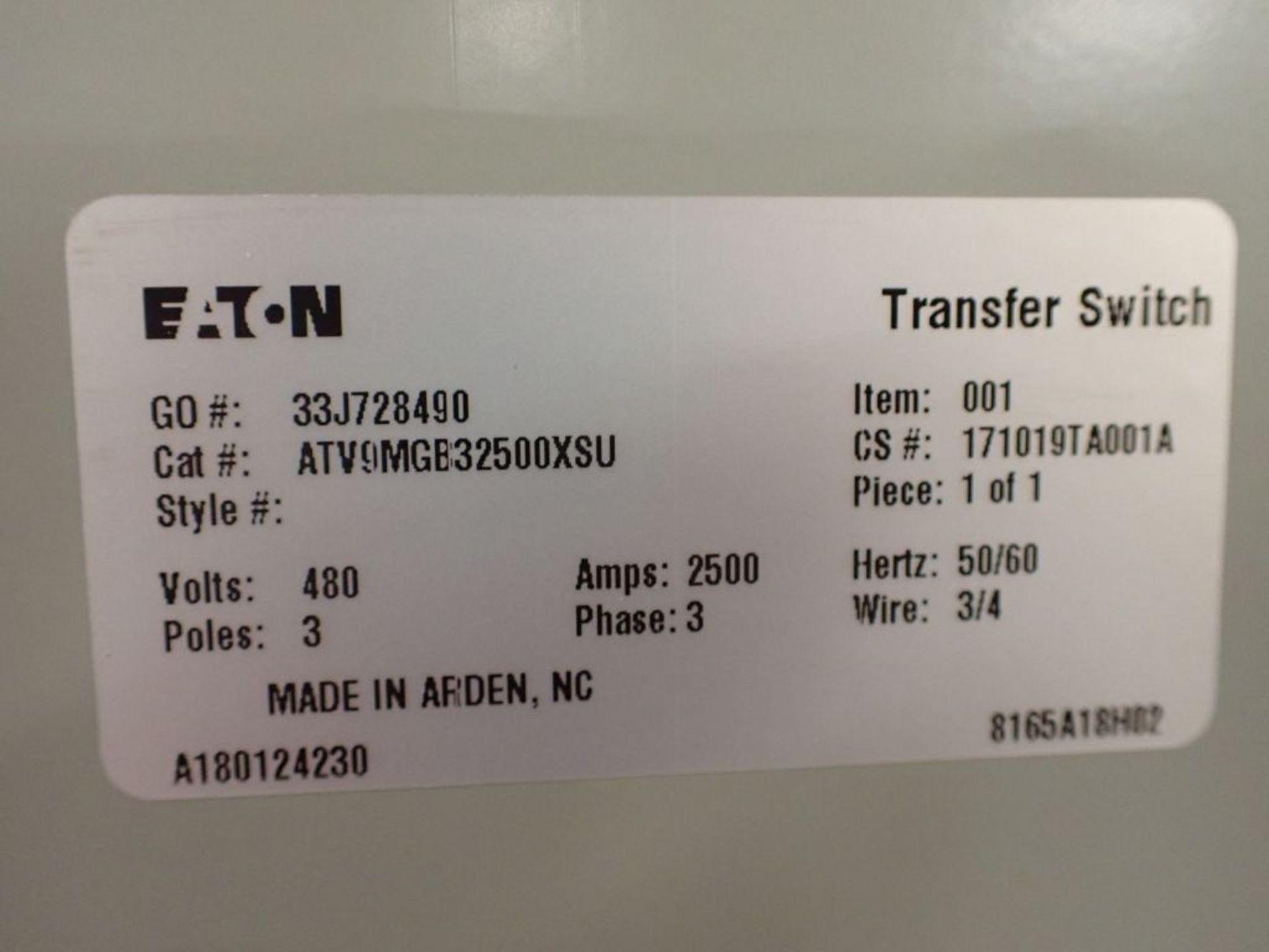 Eaton Transfer Switch | Cat No. ATV9MGB32500XSU; 480V; 3 PH; 2500A; (2) Eaton Magnum DS Circuit - Image 49 of 50
