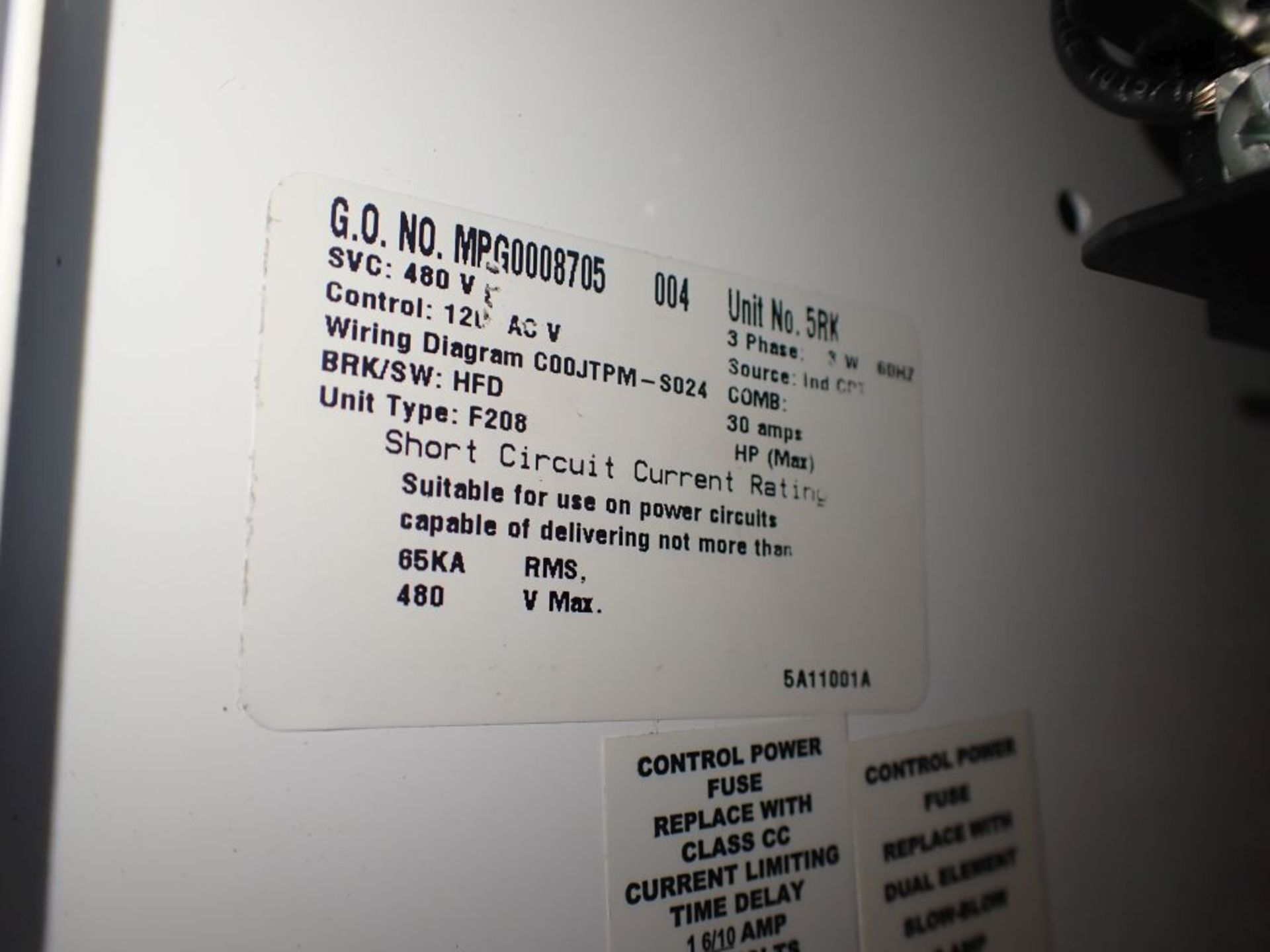 Eaton Freedom 2100 Series Motor Control Center | (2) F206-15A-10HP; (1) FDRB-250A; (1) FDRB-400A; ( - Image 69 of 104