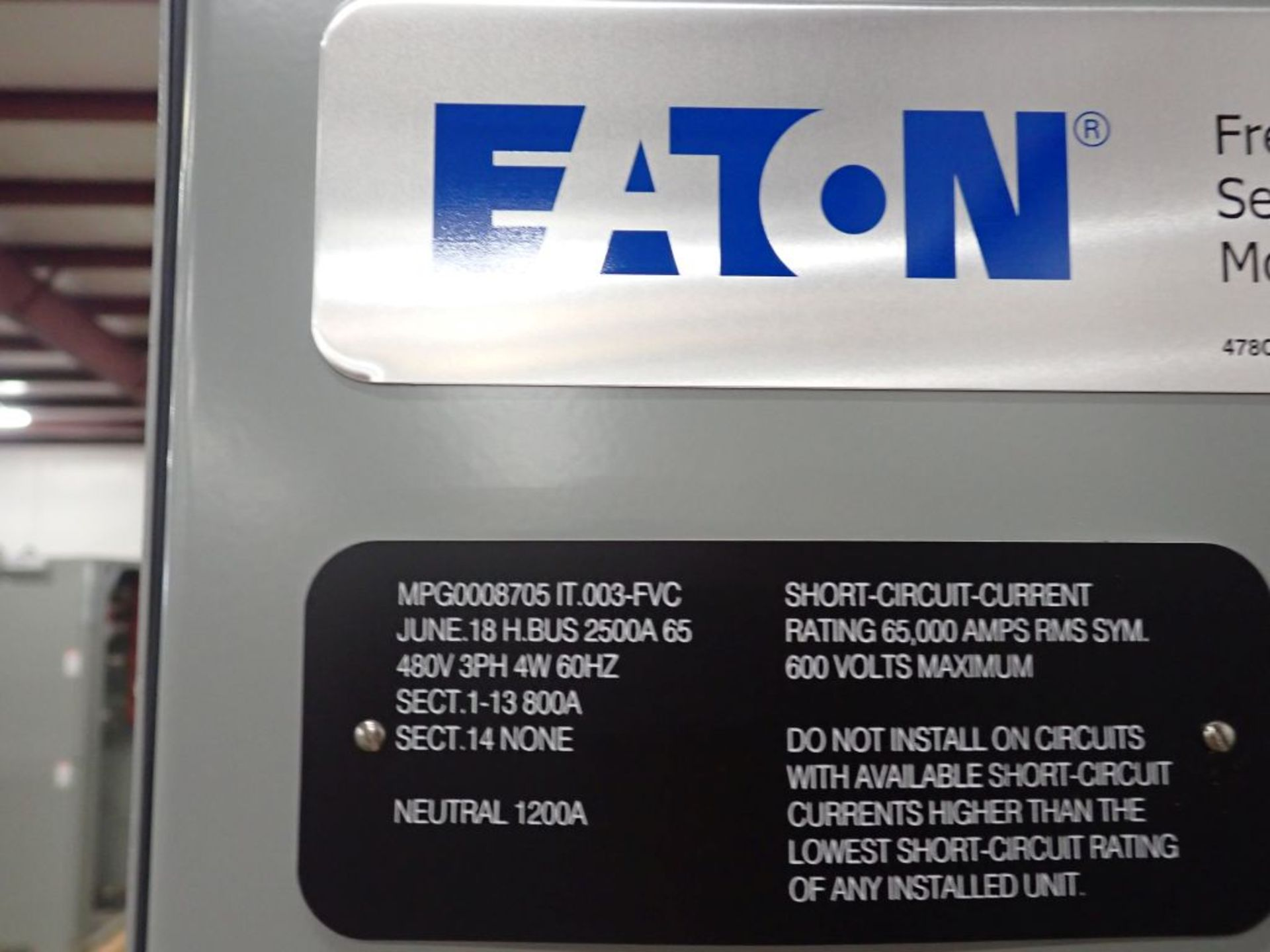Eaton Freedom Series 2100 Motor Control Center   Never Installed; Includes:; (1) F206-30A; (1) - Image 17 of 64