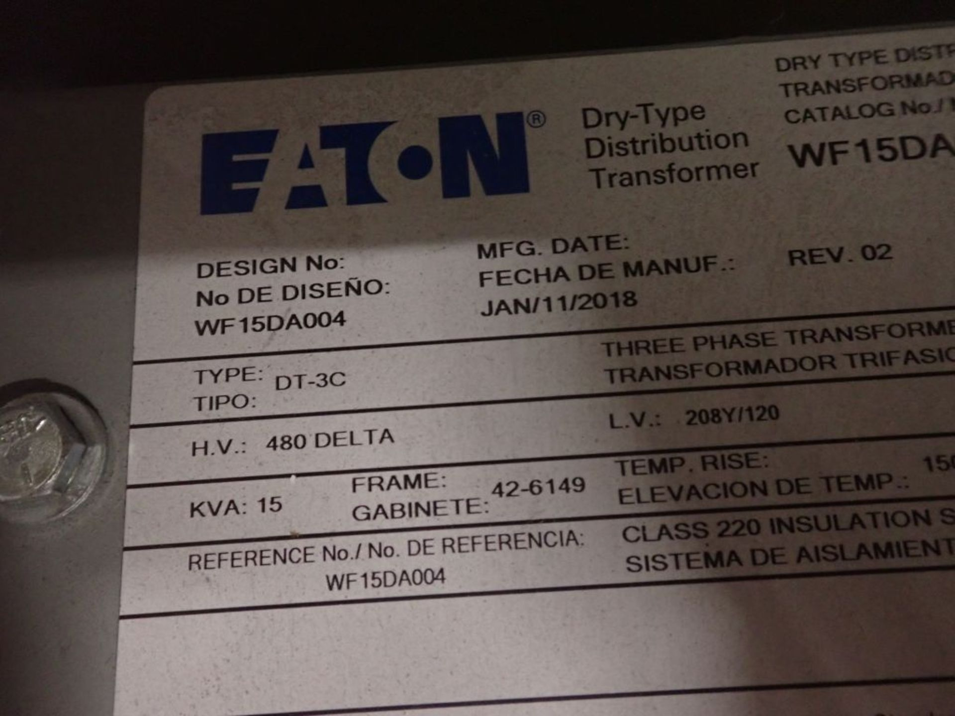Eaton Freedom 2100 Series Motor Control Center | (2) F208-30A; (1) F208-40A; (1) FDRB-50A; (2) - Image 22 of 37