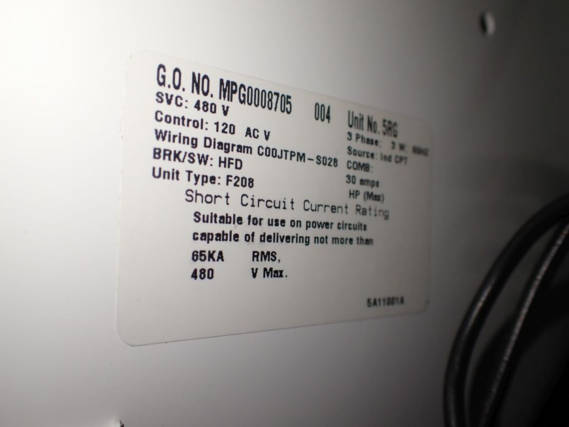 Eaton Freedom 2100 Series Motor Control Center | (2) F206-15A-10HP; (1) FDRB-250A; (1) FDRB-400A; ( - Image 65 of 104