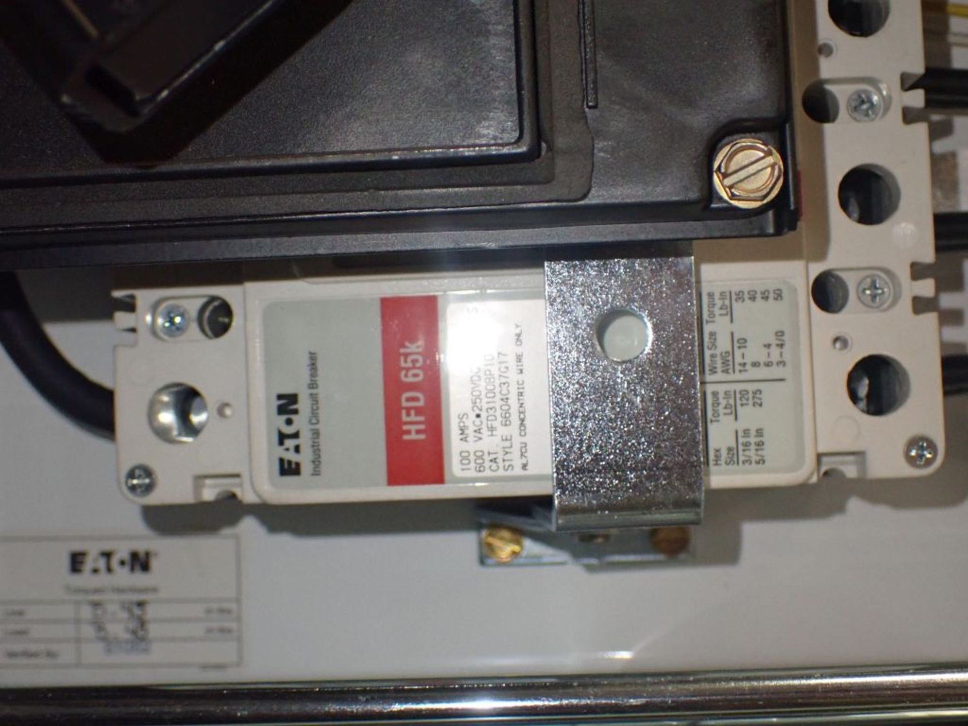 Eaton Freedom Flashgard Motor Control Center   (3) F216-15A-10HP; (1) FDRB-125A, with 150A - Image 44 of 57