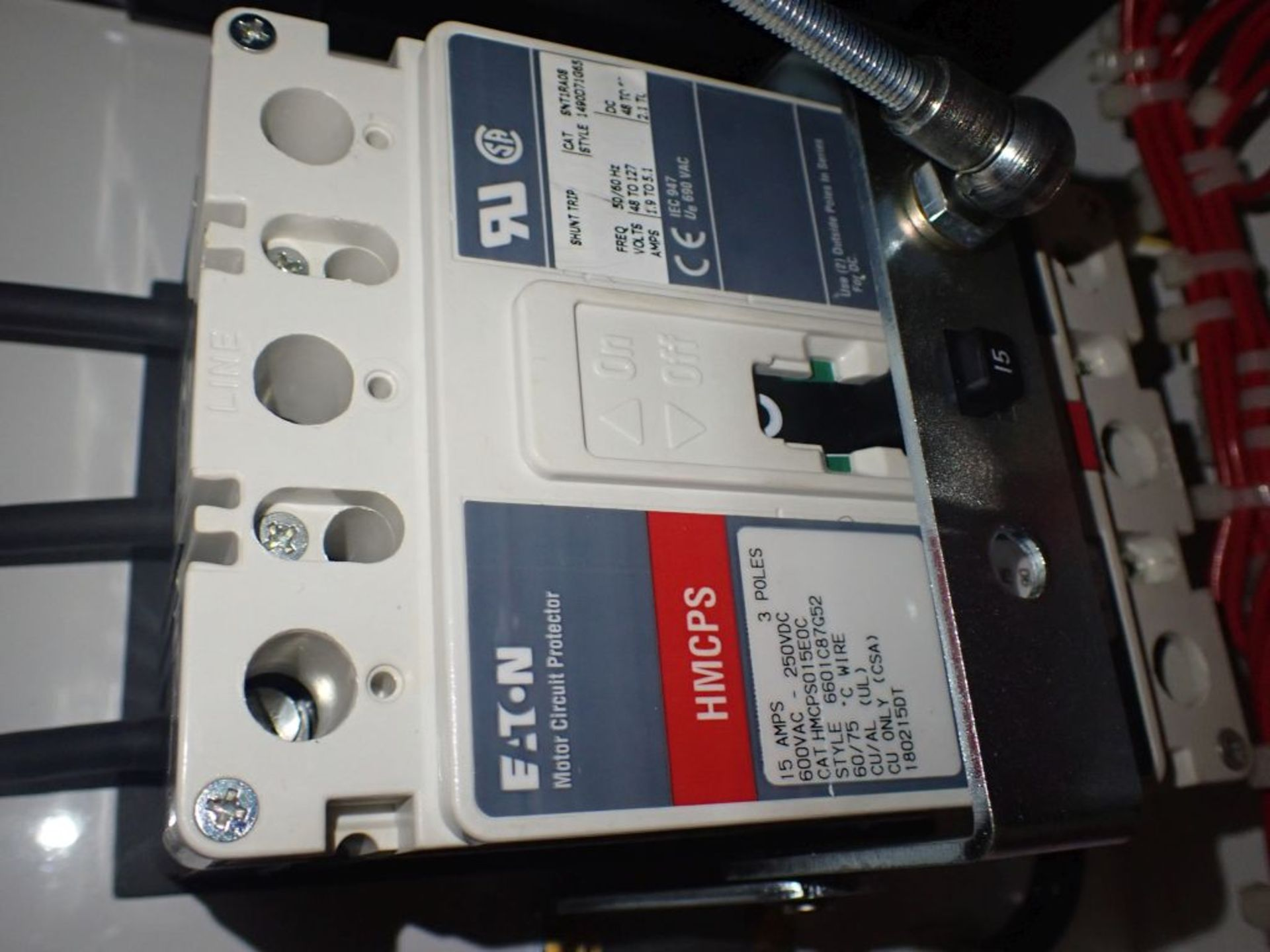 Eaton Freedom Flashgard Motor Control Center   (3) F216-15A-10HP; (1) FDRB-125A, with 150A - Image 9 of 57