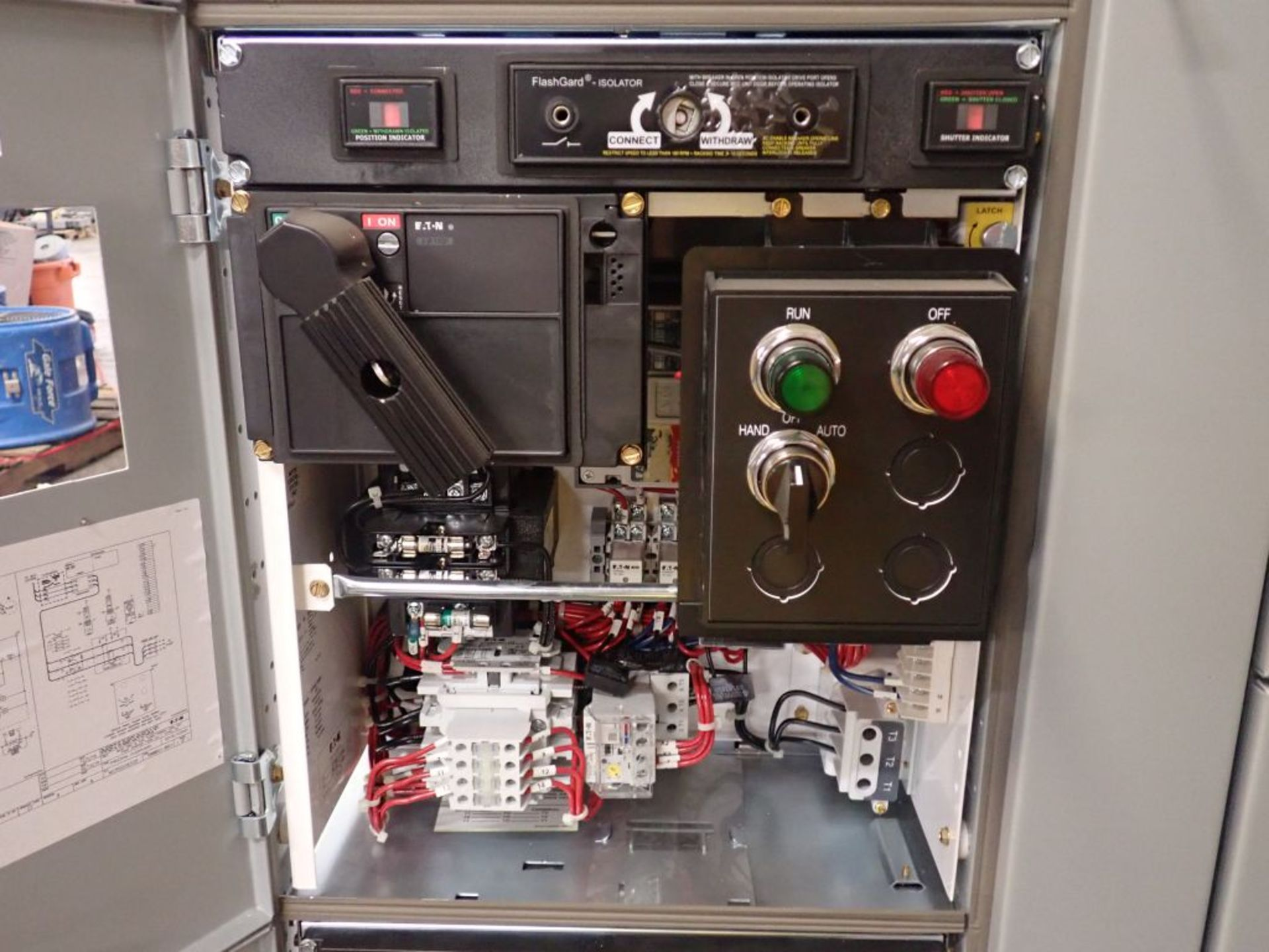 Eaton Freedom 2100 Series Motor Control Center | (2) F206-7A-10HP; (3) F206-15A-10HP; (1) FDRB-100A; - Image 56 of 87