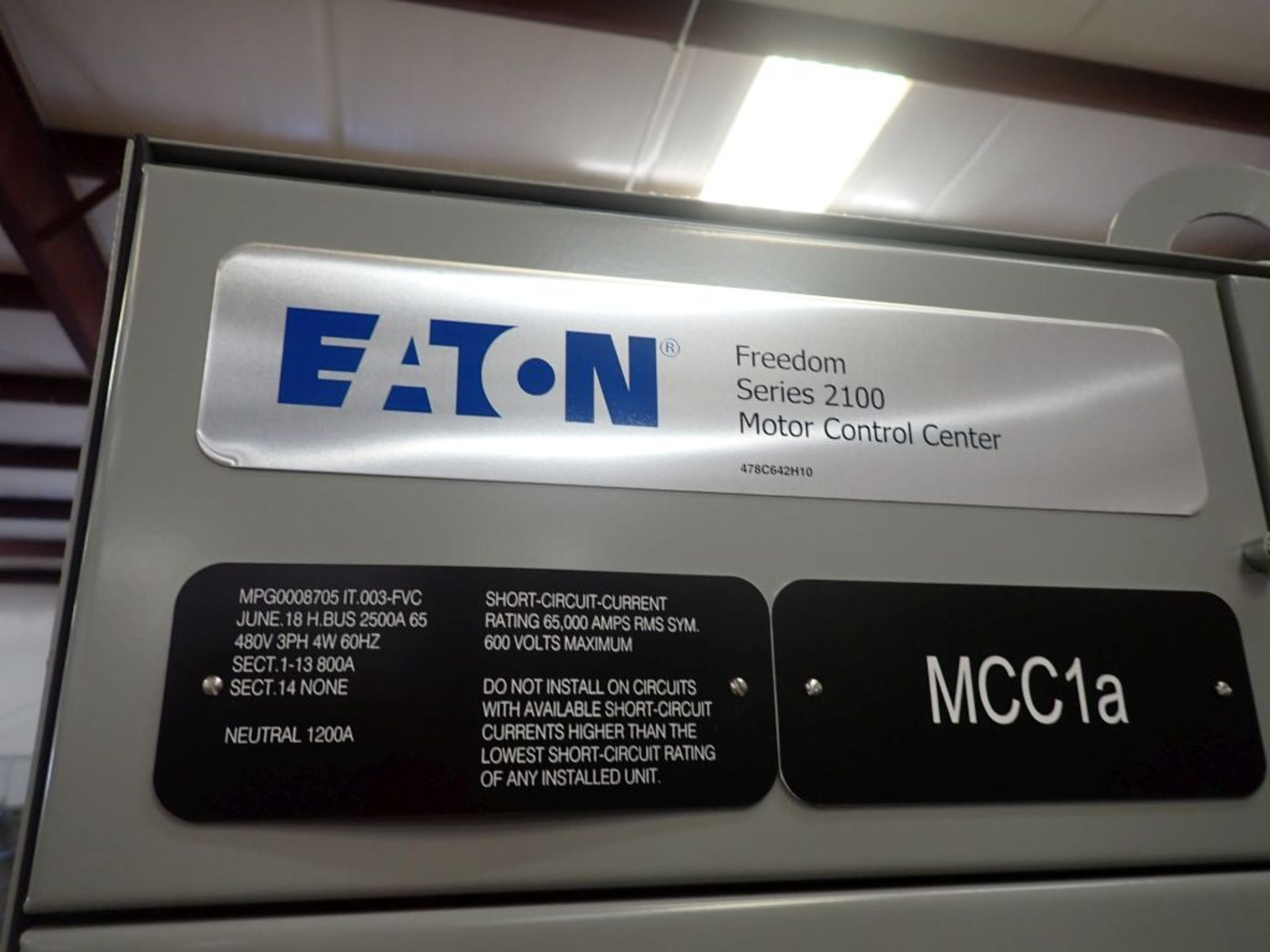 Eaton Freedom Series 2100 Motor Control Center   Never Installed; Includes:; (1) F206-30A; (1) - Image 16 of 64