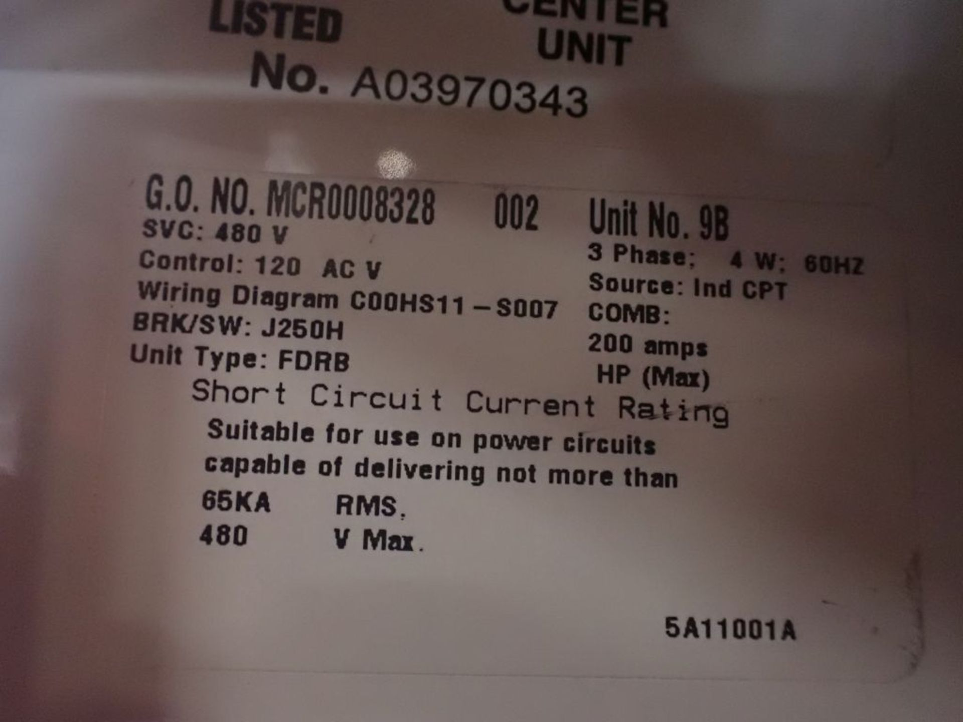 Eaton Freedom 2100 Series Motor Control Center   (2) F206-15A-10HP; (1) F206-30A-10HP; (1) FDRB- - Image 39 of 61