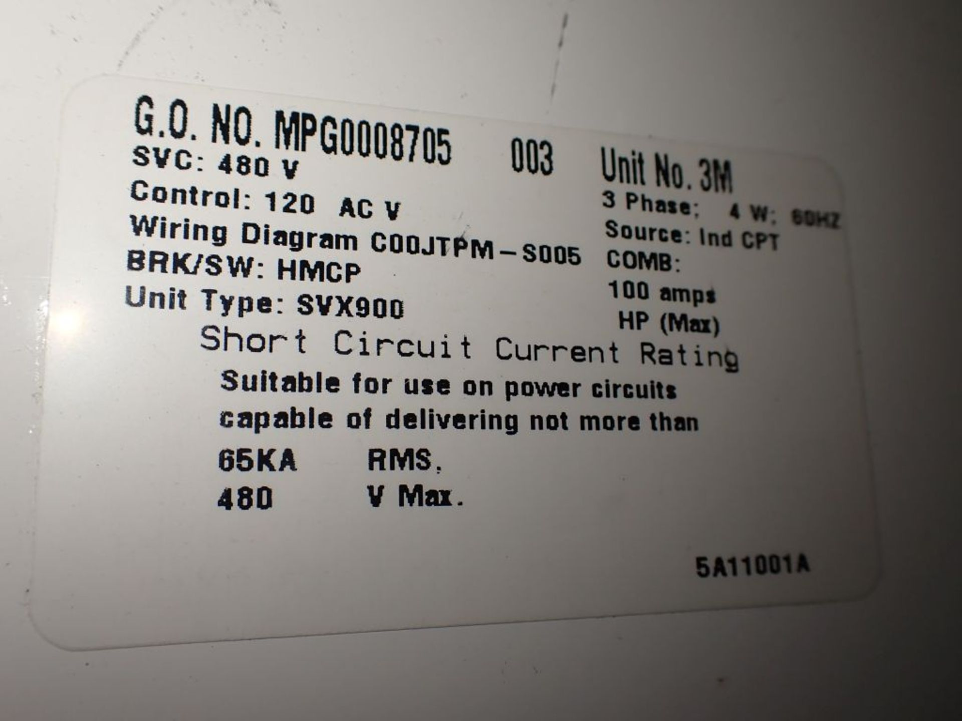 Eaton Freedom Series 2100 Motor Control Center   Never Installed; Includes:; (1) F206-30A; (1) - Image 55 of 64