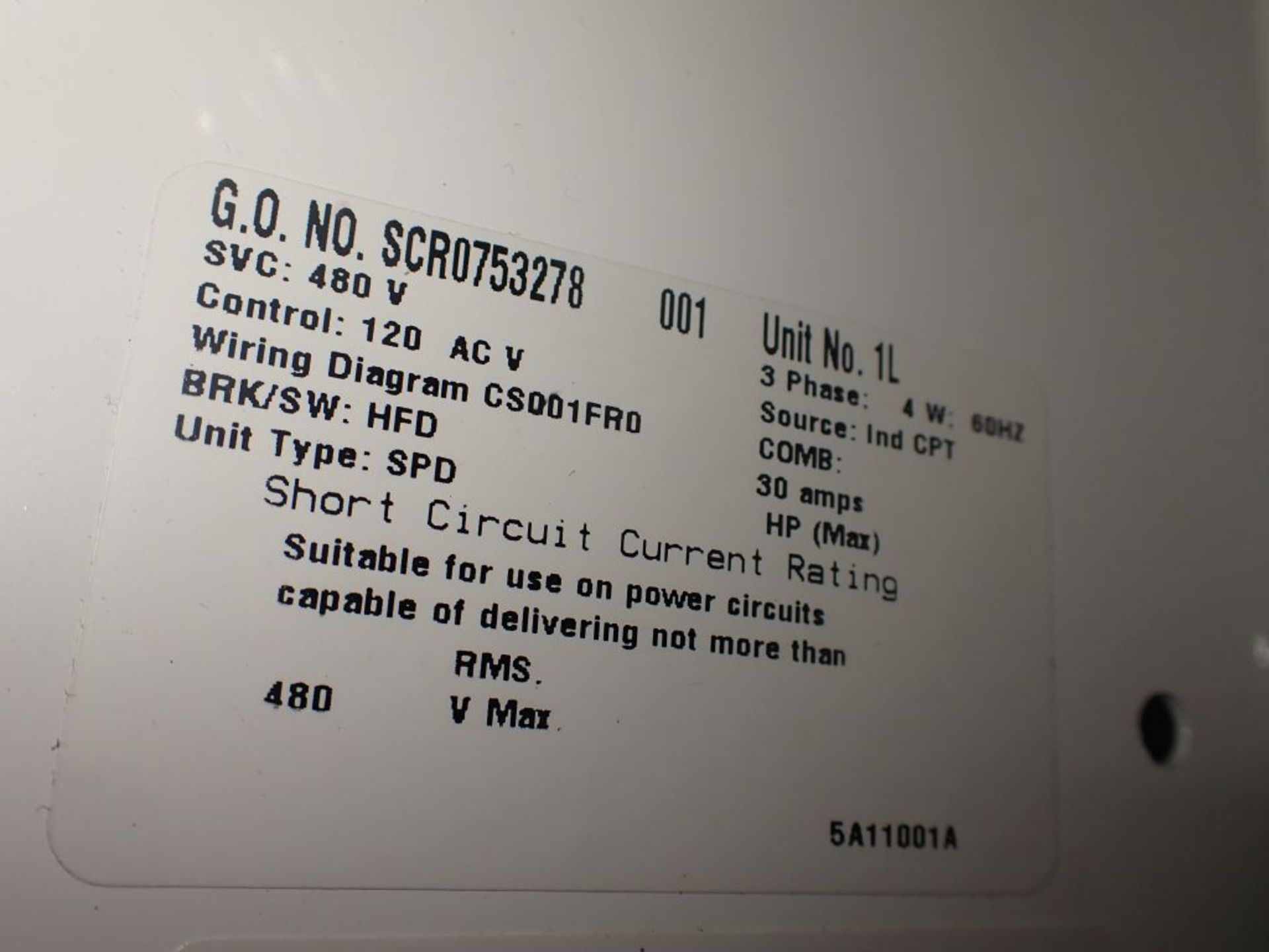 Eaton Freedom Flashgard Motor Control Center | SCR0753278, 480V; (1) INCB-250A, with 400A - Image 30 of 69