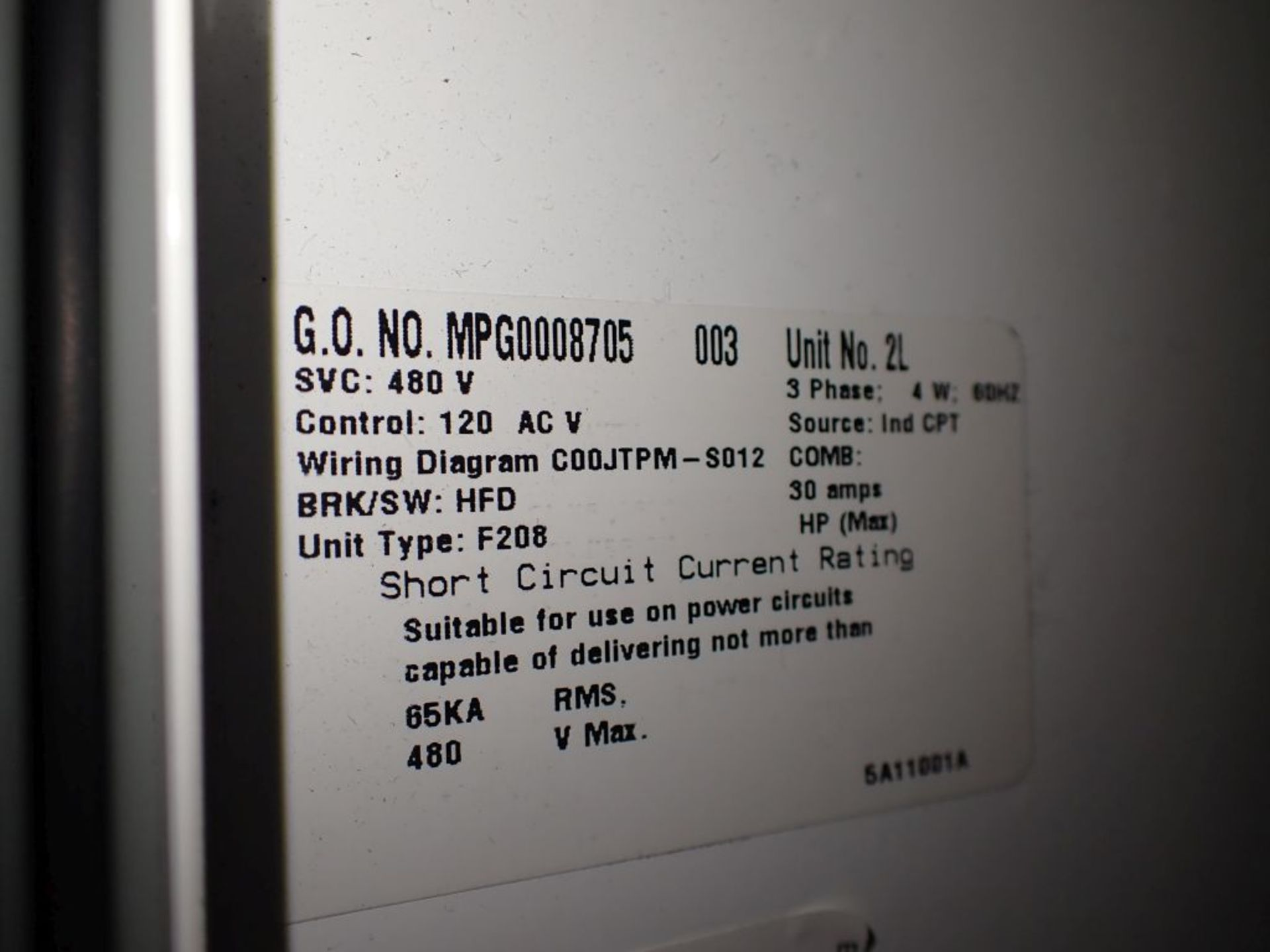 Eaton Freedom Series 2100 Motor Control Center   Never Installed; Includes:; (1) F206-30A; (1) - Image 48 of 64