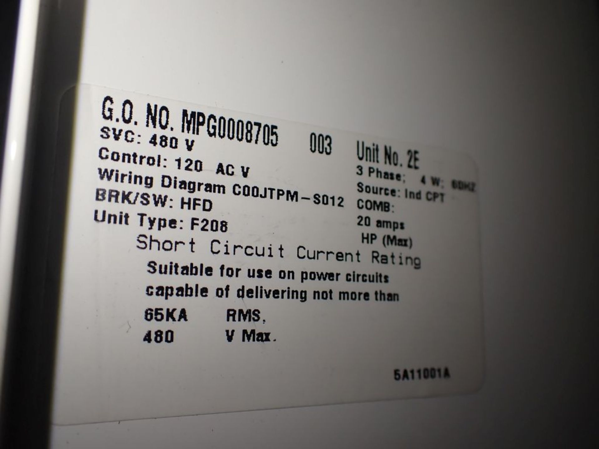 Eaton Freedom Series 2100 Motor Control Center   Never Installed; Includes:; (1) F206-30A; (1) - Image 37 of 64