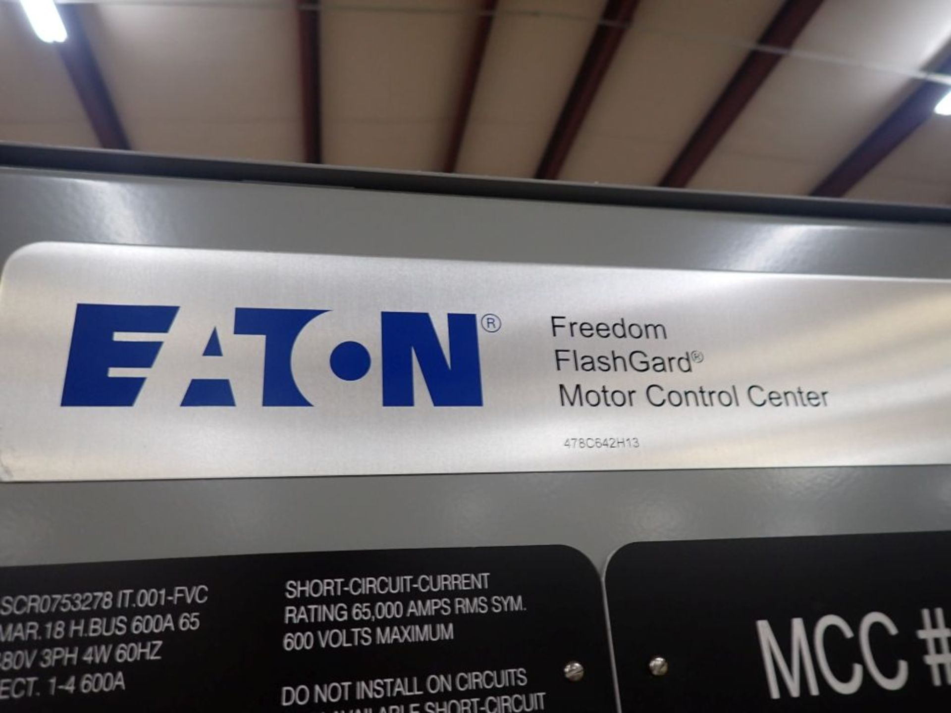 Eaton Freedom Flashgard Motor Control Center | SCR0753278, 480V; (1) INCB-250A, with 400A - Image 15 of 69