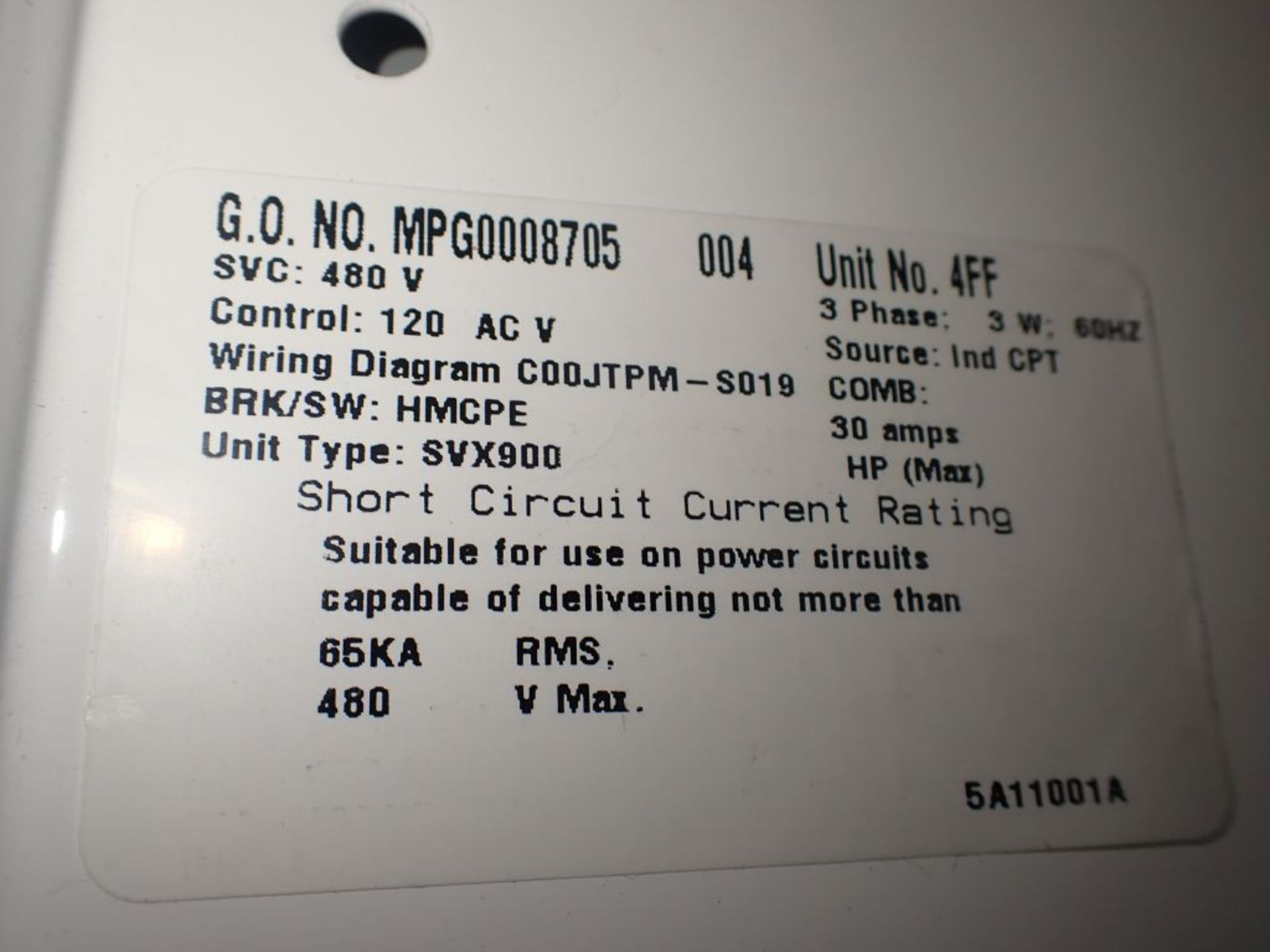Eaton Freedom 2100 Series Motor Control Center | (2) F206-15A-10HP; (1) FDRB-250A; (1) FDRB-400A; ( - Image 12 of 104